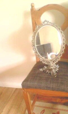 Very old Vintage French Mirror Restoration Project Swivel Super piece.