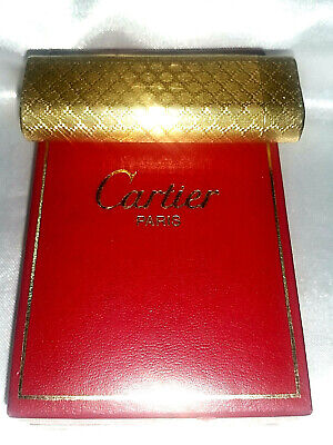 💎Accendino Lighter Cartier France Paris Vintage Old Oro Gold Plated Con Box💎