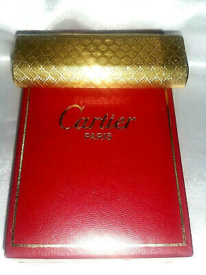 Accendino Lighter Cartier Paris Vintage Epoca Old Gold Plated Con Box