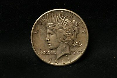 1921 U.s. Peace Dollar High Relief Exc Highly Detailed Coin