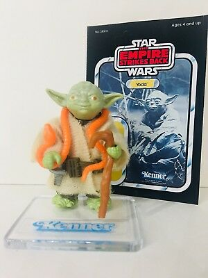 Star Wars~Vintage Yoda~Lt~Green+Orange Snake C/90 Nr Mint $# Hk 1980 Complete!!