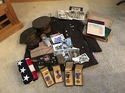 Extensive WW2 KIA named Air Medal & Dist. Flying Cross group with uniforms