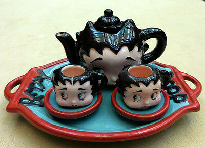 Betty Boop Mini Tea Set, Sculpted Faces, Vandor Company, Item #10950