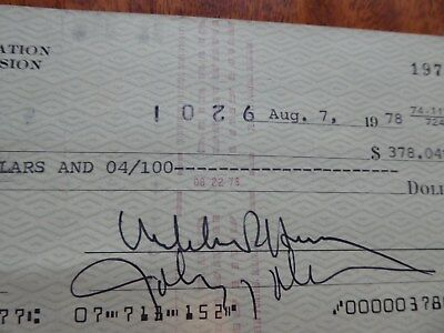 1978 JOHN DELOREAN SIGNED CHECK w/ ENVELOPE & RENAULT FUEL FILTER CAR BLUEPRINT