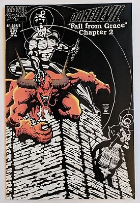 Daredevil #321 Marvel Comic 1993 Newsstand Edition Fall From Grace Chapter 2