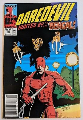 Daredevil #258 Marvel Comic 1988 Fabian Nicieza Bengal First Appearance