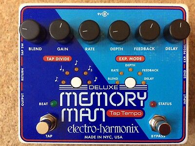 Electro Harmonix Deluxe Memory Man Tap Tempo 1100 NOS MN3005 Chips EHX DMM