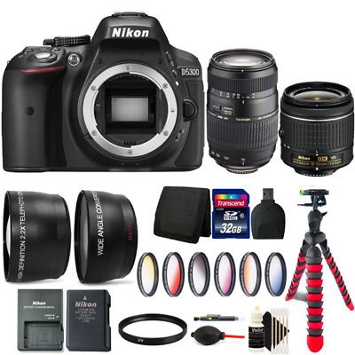 Nikon D5300 24.2MP DSLR Camera w/ 18-55mm Lens, 70-300mm Lens and Accessory Kit