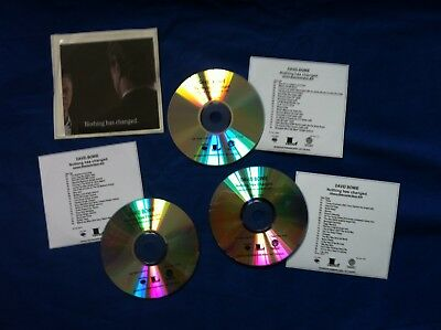 David Bowie - Nothing Has Changed 3 Cd Advance Promo Set - 59 Tracks - New
