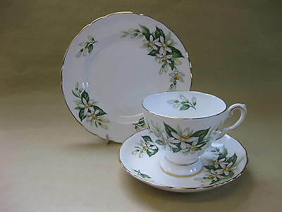 Vintage Tuscan China Trio ~ Bridal Flowers Orange Blossom Pattern ~ Excellent