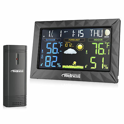 Wellness Wired / Wireless Weather Station - Thermometer, Hydrometer, Alarm Clock