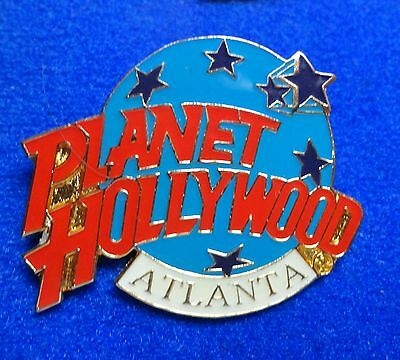 New Atlanta Georgia Planet Hollywood Blue Planet with Stars Logo PH Lapel Pin z3