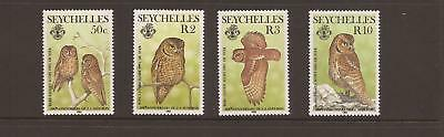 Seychelles 1985 Owls MnhSet Of Stamps