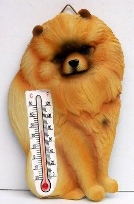 Pomeranian Thermometer, Indoor Or Outdoor, Spoontiques, Resin, Item 08175
