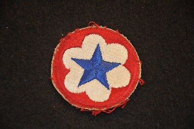 WW2 US Army Service Forces Shoulder Patch SSI Cut Edge #3
