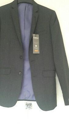 Mens marks and spencer super slim fit charcoal blazer 34 med bnwt