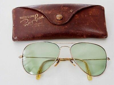Vintage Ray Ban 1/10 12K GF Aviator Sunglasses With Case