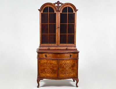 Maple Dome Top Queen Anne Style Bookcase or Cabinet