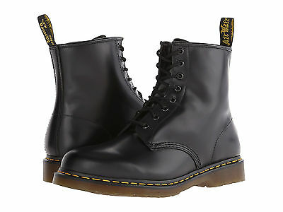 Men Dr. Martens 1460 Hi Top 8 - Eye 11822006 Black Smooth 100% Original b6acfa563be0