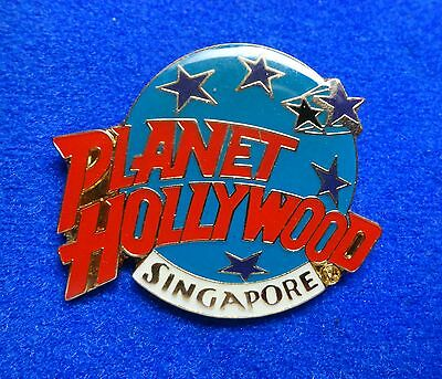 PH Old Singapore Planet Hollywood Logo w Stars Lapel Pin - 5mm backstamp z3