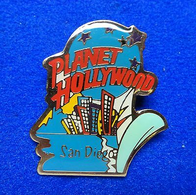 San Diego California Sailboat Planet Hollywood Blue Planet Stars Logo PH Pin z3