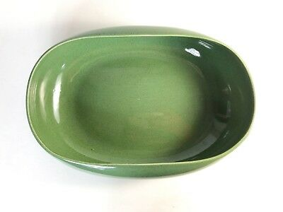 "Russel Wright Steubenville Vegetable Serving Bowl in Cedar Green 10"" by 7"""