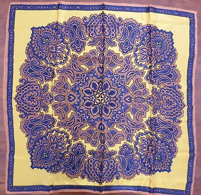 Classic 1970s vintage paisley print satiny scarf