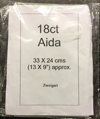 Aida 18 Count 33x24 Cms (13 X 9 Inches)