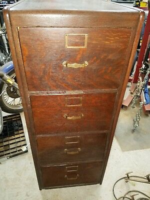 Antique Four Drawer Library Bureau File Cabinet -  Price Reduced AGAIN