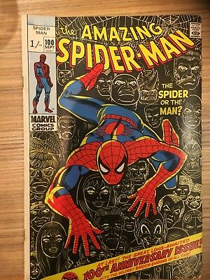 MARVEL Comics Amazing SPIDER-MAN Bronze age #100 1971 Extremely GC