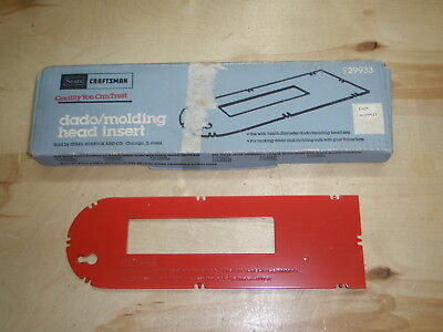 Craftsman Table saw dado/molding head insert, Free Shipping.