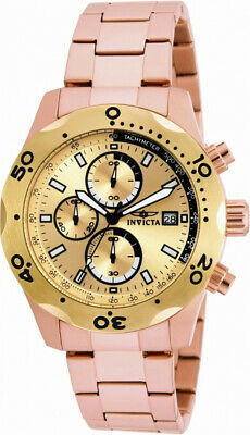 Invicta Specialty 17755 Men's Round Rose Gold Tone Chronograph Date Analog Watch