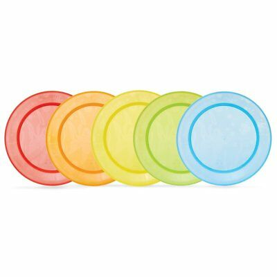 Munchkin Baby Food Plates 5pck Multi-Coloured Toddler Meals High Chair Trays NEW