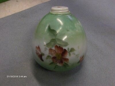 Antique Vintage Glass Lamp Shade Globe Flowers Very Old