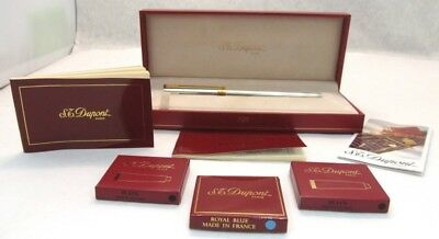 S.t. Dupont Fountain Pen Never Inked 18K Nib Original Fitted Box