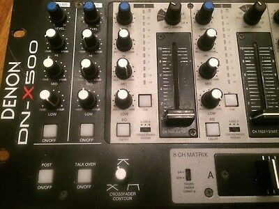 Denon DN-X500 PROFESSIONAL MOBILE/CLUB MIXER 4 VCA Channel Faders
