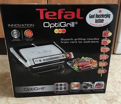 Tefal OptiGrill with Automatic Thickness and Temperature Measurement, 2000 W