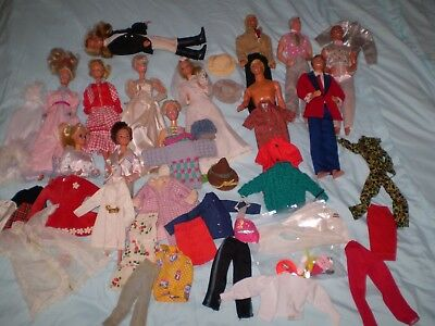 Huge Vintage Lot Of Barbie,ken,gi Joe Dolls And Clothes-Some Tags-See Pics