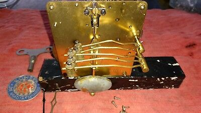 antique clock parts rare Christian Kohler (mauthe) German ting tang mechanism