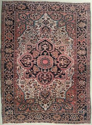 """Genuine hand knotted authentic Antique rug. 3'9""""x 4'10"""""""