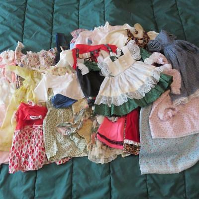 30 Piece Mixed Various Sizes Vintage Doll Clothes ~ Dresses ~ Romper ~ MORE!