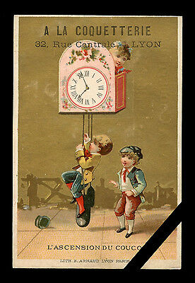 Vintage French Trade Card: Rare Original Antique Early 1900's Lyon France