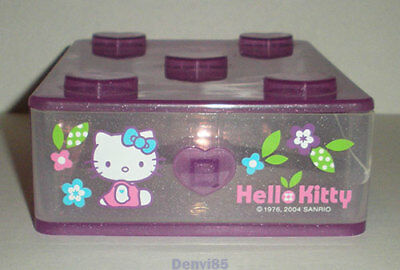 """VERY CUTE! 2004 Sanrio HELLO KITTY """"Flowers"""" Stackable Drawer Case!"""