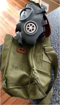 Russian Gas Mask & Vintage Military Carrying Case