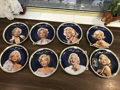 Set Of 8 Marilyn Monroe Collectors Plates