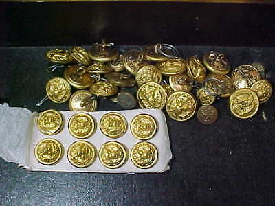 34 Orig WWII US Navy BRASS UNIFORM BUTTONS