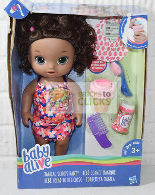 Baby Alive Magical Scoops Baby - African American Damaged Packaging