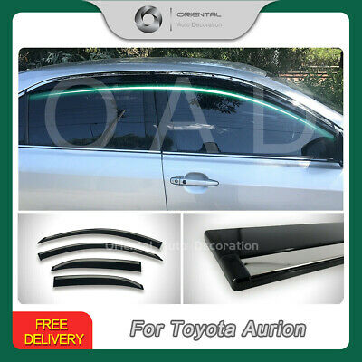 Injection Weather Shields Window Visor Weathershields Aurion 06-11 Stainless  T