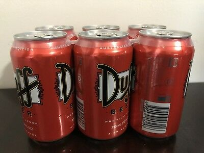 DUFF Beer Australian Edition 2014 Discontinued RARE Simpsons - Brand new