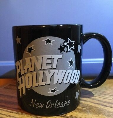 Vintage 1991 Planet Hollywood Mug New Orleans Black/Silver Excellent Condition